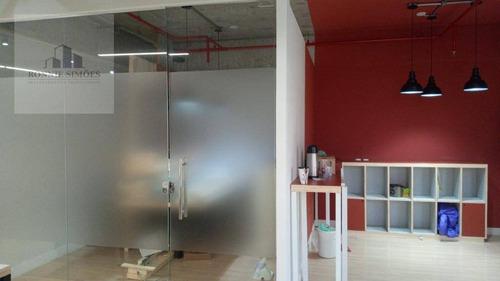 Sala, Conjunto Comercial Para Alugar Em Moema, 1 Copa, 3 Banheiros, 2 Vagas Na Garagem, 90 M², São Paulo. - Sa0525