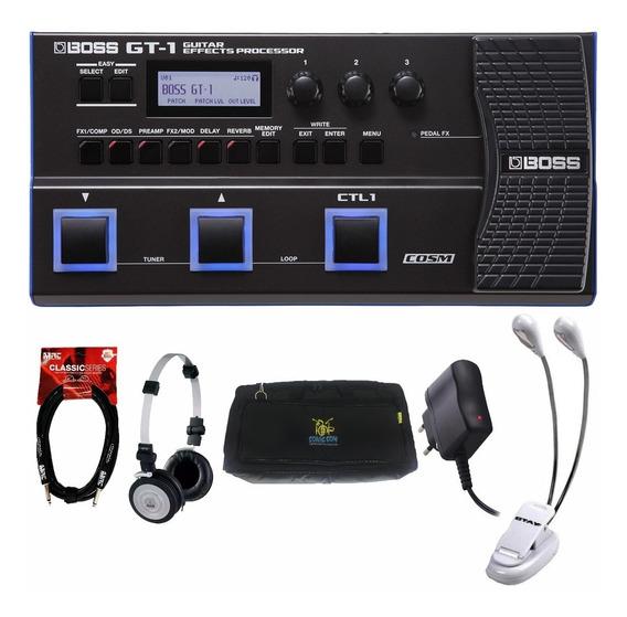 Pedaleira Boss Gt1 Multi Ef Gt 1 P/ Guitarra + Kit
