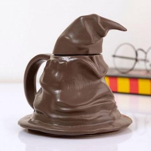 Mug Taza Pocillo 3d Sombrero Seleccionador Harry Potter