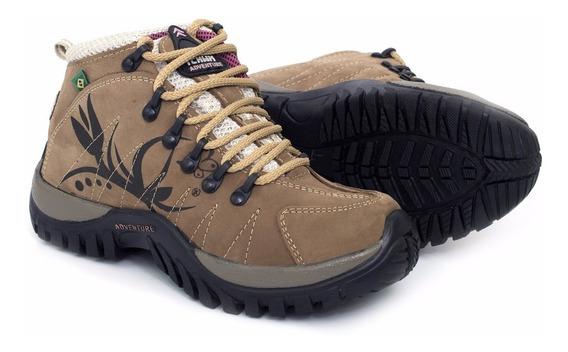 Coturno Adventure Feminino Trekking Tchwm Shoes Ref 10.000