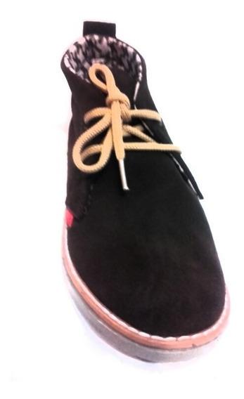 Botas Cuero Gamuzado Borcego Zapato Mujer Fiorcalzados