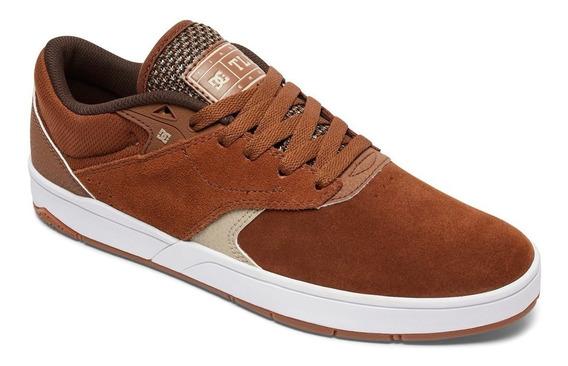 Zapatillas Dc Shoes Mod Tiago S Marron!!! Coleccion 2019
