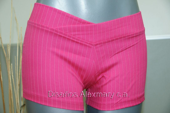 Bellos Shorts De Drill Strech Con Rallas