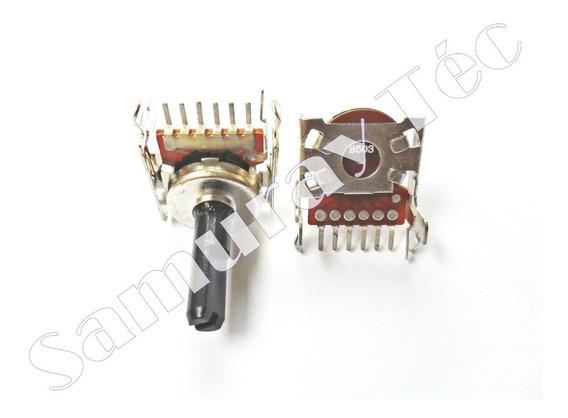 Potenciômetro Rotativo C/ Suporte B503 - Terminais 6 + 1