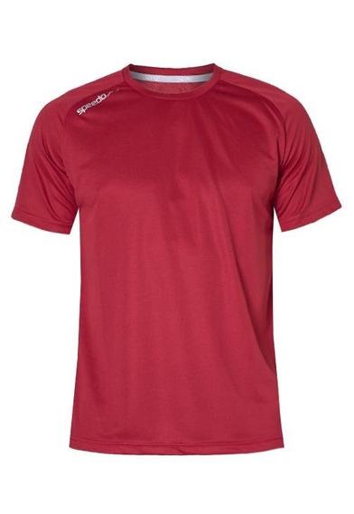 Camiseta Speedo Raglan Fast Dry Uv50 Masculina M Vermelha
