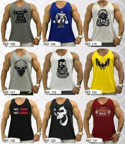 Kit 7 Regata Cavada Masculina Tank Algodão Camiseta T-shirt