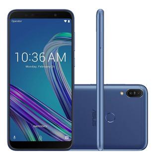 Smartphone Asus Zenfone Max Pro M1, 4g 32gb Octa Core Câmera Dupla 13mp+5mp Tela 6.0 , Azul