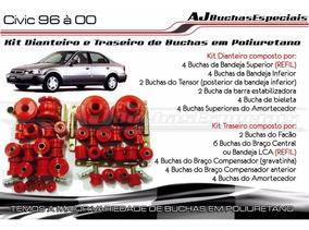 Civic 99 - Kit De Buchas Dianteiro Traseiro Poliuretano 40pç