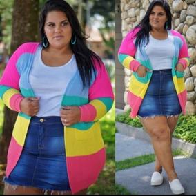 Conjunto Neon E Floral Short + Kimono Plus Size