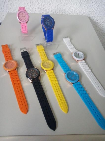 Relógio Pulso Feminino Silicone Promoção