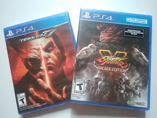 Tekken 7 + Street Fighter V Arcade Ps4 Pack Nuevo Y Sellado
