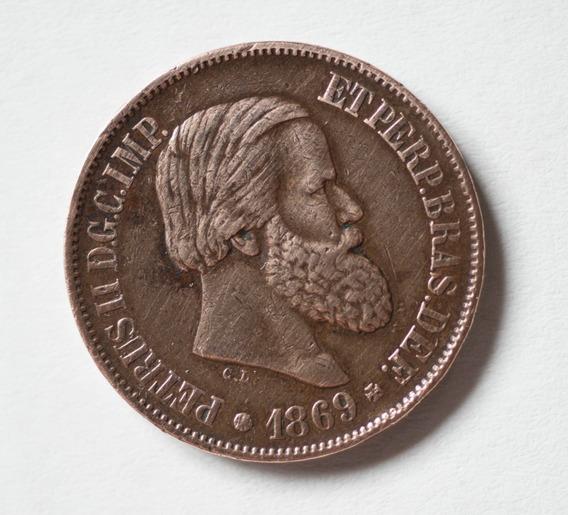 Moneda Antigua 20 Reais Brasil - 1869