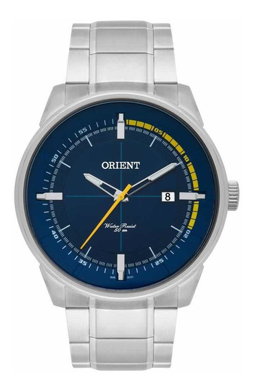 Relógio Orient Masculino Prata Analógico Mbss1295