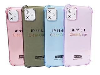 Funda Carcasa Gel Color Transparente Reforzada iPhone 11