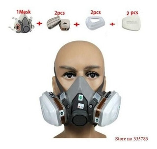 Kit Respirador Mascara 3m 6200 Pintura Completa + 6001+ 5n11