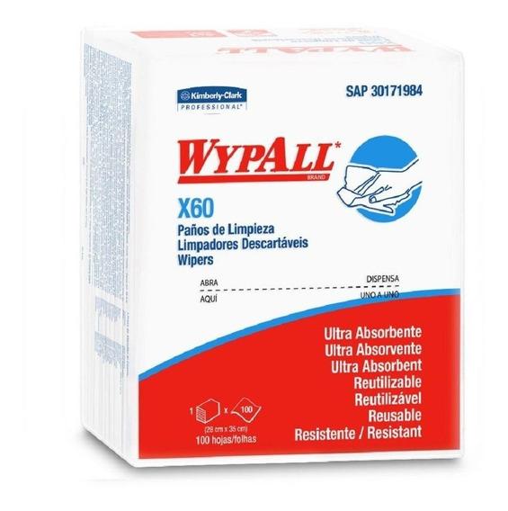 Pano Wipe Wypall P/ Higiene Corporal X60 100 Un Banho Leito