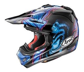 Casco De Motocross Negro / Azul Arai Vx-pro 4 Barcia - X-lar