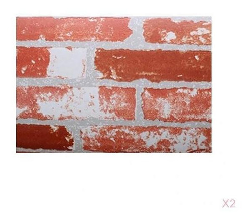 Imagen 1 de 8 de 2pcs 3d Ladrillos Piedra Pintado De Papel Telón Fondo Cubre