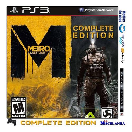 Metro Last Light Complete Edition Ps3 Digital
