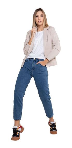 Calça Mom Latifundio Jeans Azul - Super Confortável
