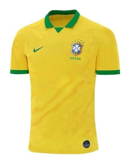 Camisa Camiseta Blusa Seleção Brasileira Brasil S N 2019 12x
