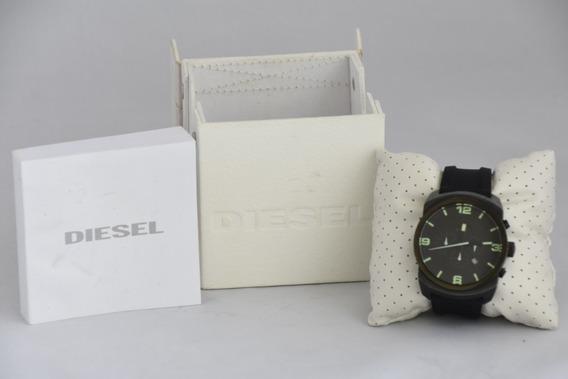 Relógio Diesel Dz-4192 Preto Pulseira De Borracha C/ Caixa