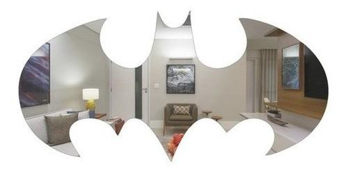Espelho Decorativo Morcego Batman Em Acrílico