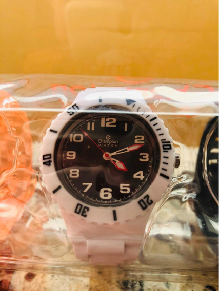 Relógio Infantil Champion Com Pulseiras De Várias Cores.