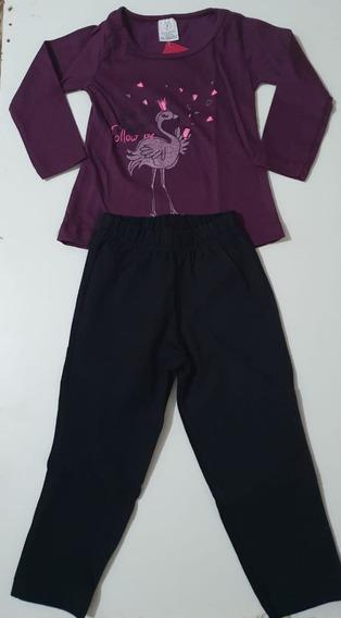 Roupa Infantil Kit Tamanho 01 - Conjuntos Femininos 05 Peças