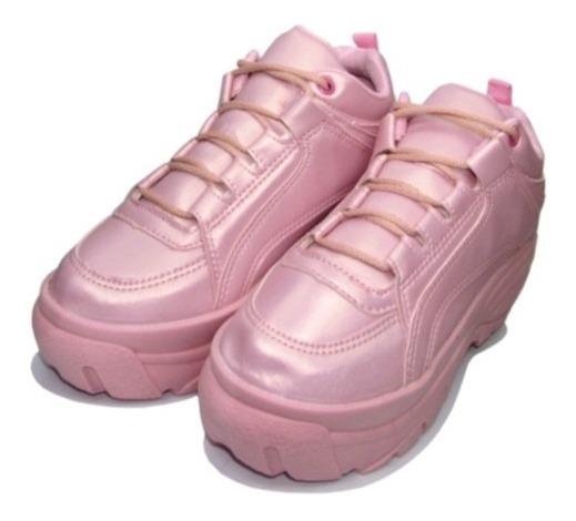 Tênis Feminino Plataforma Sneaker Bufallo Promoção De Páscoa
