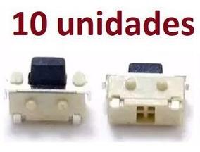 10 Botão Chave Power Volume 4mm Tablet Celulares Gps Mp5 Mp4