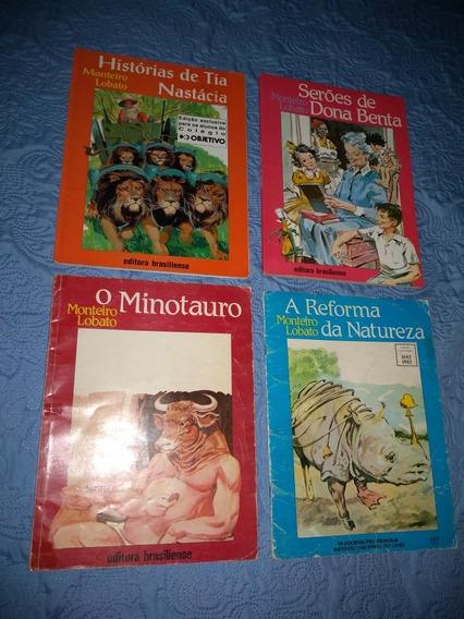 Livros De Monteiro Lobato Da Ed. Brasiliense - 4 Títulos