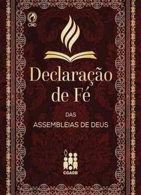 Livro Declaração De Fé Das Assembleia De Deus
