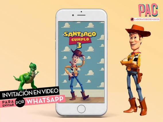 Toy Story Invitación En Video Para Whatsapp Pac