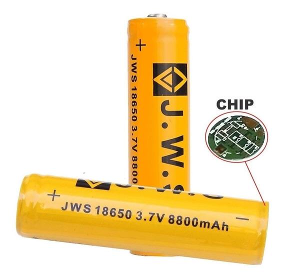 Kit 2x Bateria Jws 18650 Gold Chip 8800mah 3.7v Recarregável