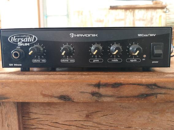 Amplificador 70v 50w Mono Slim 2 Vias Versátil - Hayonik