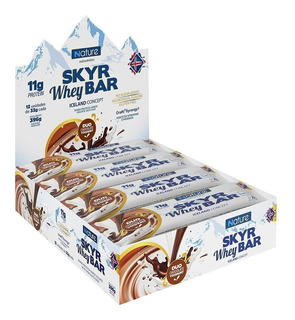 Skyr Whey Bar Caixa 12 Unid Duo Chocolate - Nutrata Nature