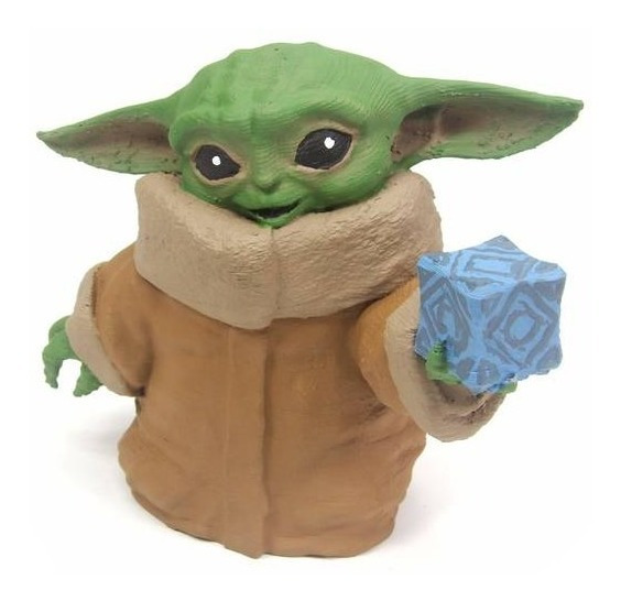 Boneco Baby Yoda 12cm 3d - The Mandalorian - Star Wars