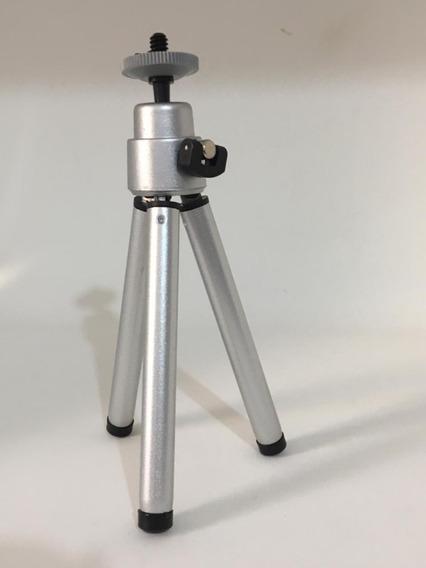 Tripé Pequeno Universal Pra Câmera, Celular, Tablet
