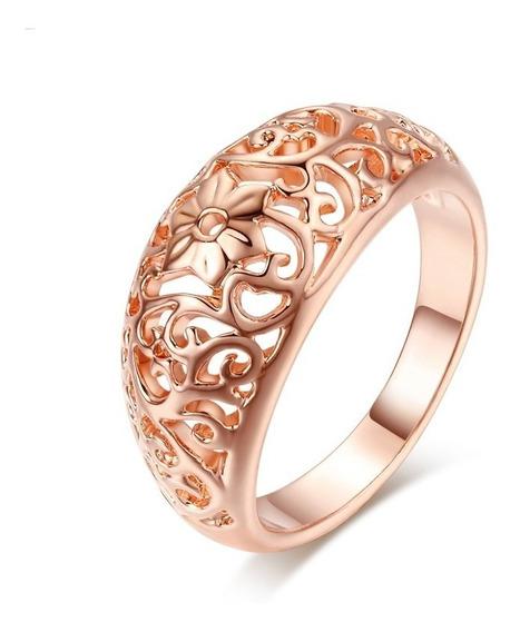 Anel Aparador Feminino Banhado Ouro Rosé 18k
