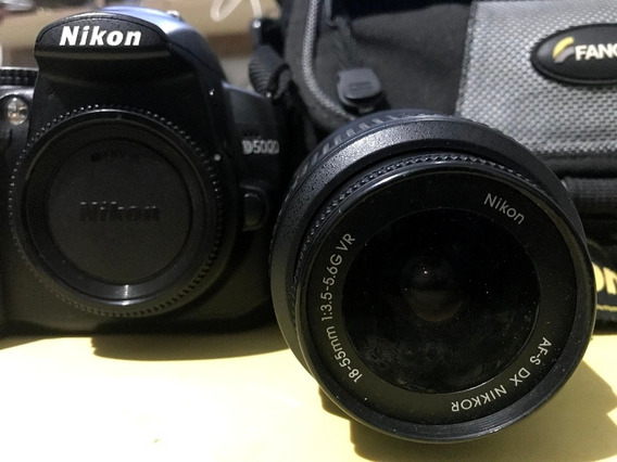 Câmera Nikon D5000 C/ Lente 18-55mm + Bag De Viagem