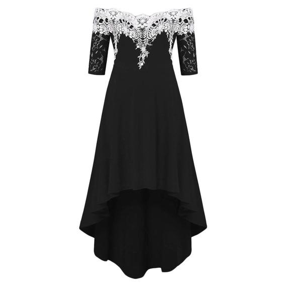 Vestido De Fiesta Para La Señora Con Fuera Del Hombro L-5xl