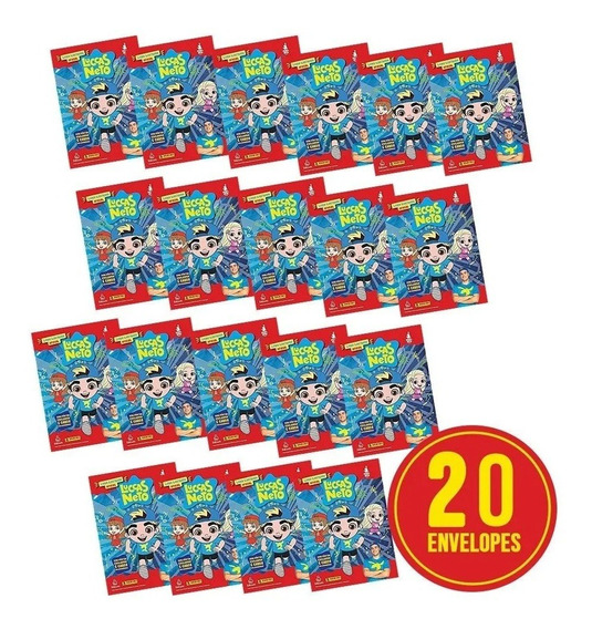 Kit 20 Envelopes P/ Álbum Luccas Neto (80 Fig. +20 Cards)