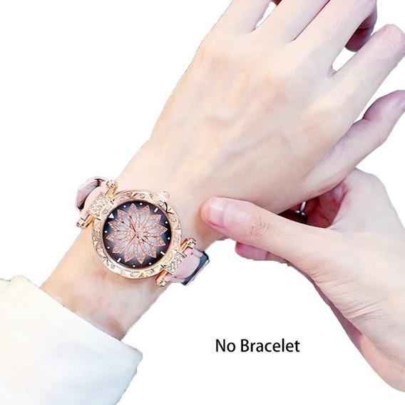 Mujeres Nueva Moda Reloj Pulsera Flor Reloj De Pulsera De Di