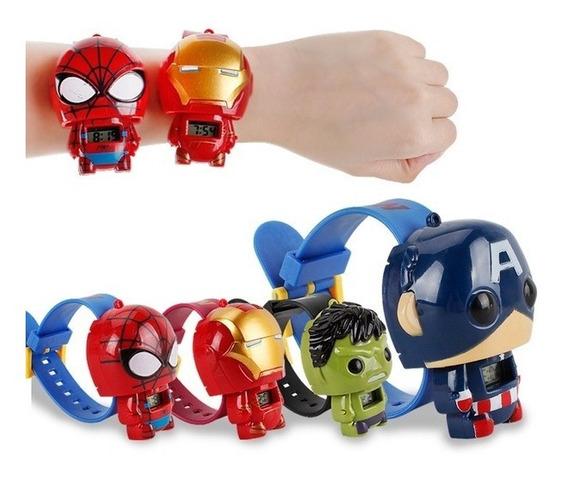 Relógio Digital Infantil Marvel - Novo