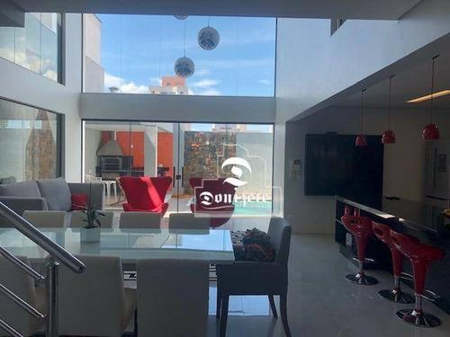 Sobrado Com 3 Dormitórios À Venda, 243 M² Por R$ 1.700.000,00 - Vila Valparaíso - Santo André/sp - So0418