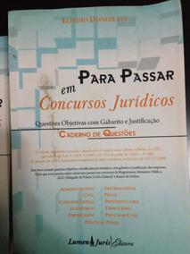 Livros Para Passar Em Concursos Jurídicos - 2 Volumes