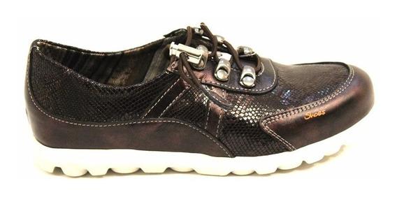 Zapatilla Cuero Mujer Cordon Art Yukon. Marca Claris Shoes