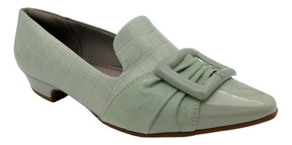 Zapatos De Piel Para Dama Con Tacón Bajo Y Punta Triangular