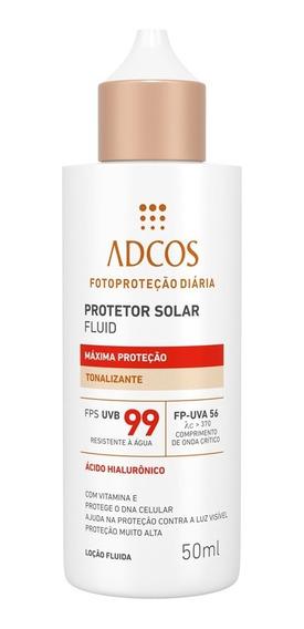 Protetor Solar Adcos - Fluid Máxima Proteção Fps 99 Tonalizante 50ml